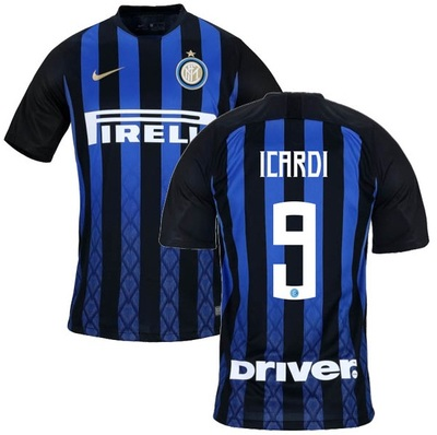 1f99db23b35 Icardi  9 Inter Milan 2018 19 Home Soccer Jersey Men s Shirt Blue