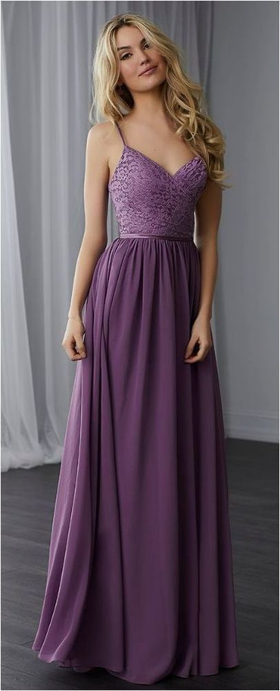 Simple Spaghetti Straps Evening Dress A Line Purple