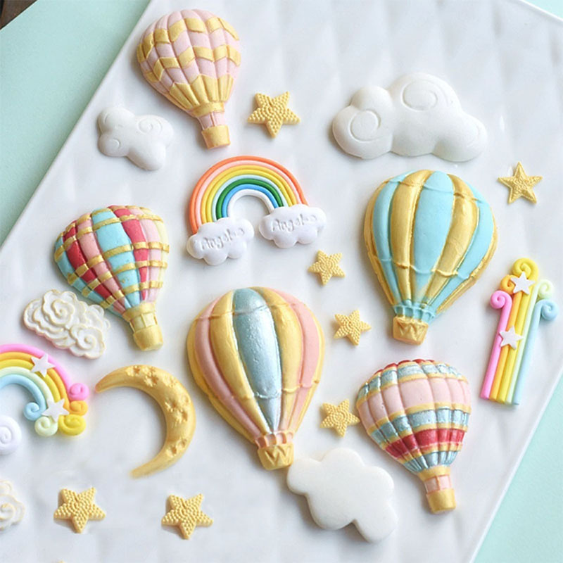 Candy Clay Pastry Balloon Cake Mould Silicone Mold Making Chocolate Fondant  Sugar Craft Rainbow Cake Decor Baking Tools