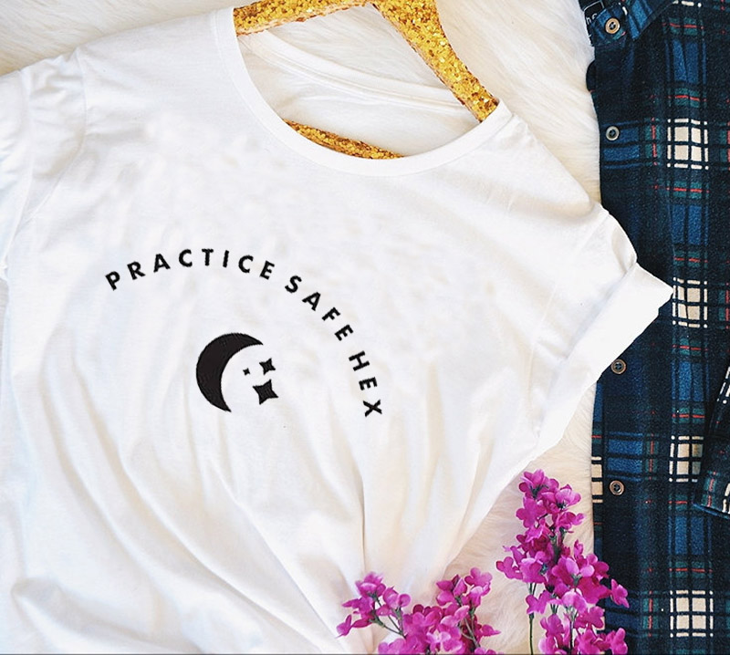 4c1f0286cf7d witchy goth practice safe hex t-shirt on Storenvy