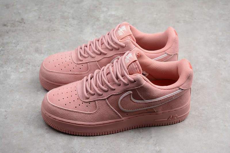 various colors d4b9e 851cb Nike Air Force 1  07 LV8 Suede Red Stardust Shoes