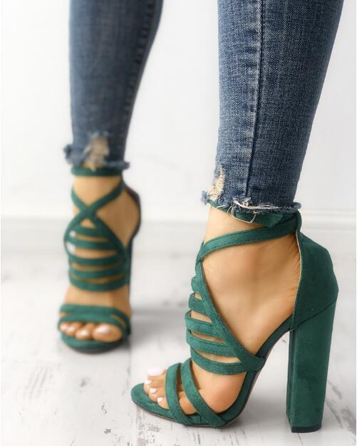 be1ab56a2993 ... Charming Strappy Open Toe Stiletto Sandals Hot High Shoes Cheap Prom  Shoes M5740 - Thumbnail 3 ...