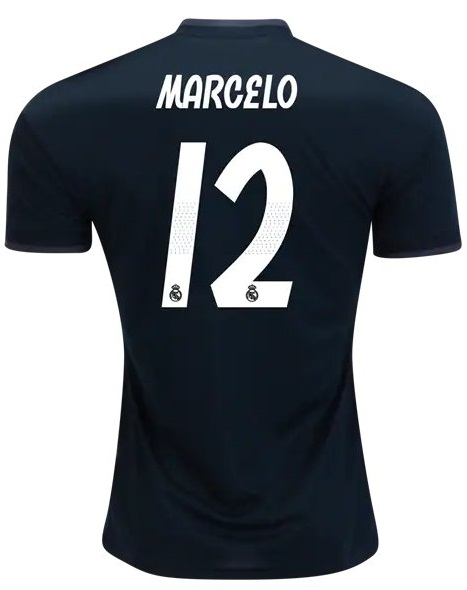 pretty nice f0dc9 ebd9e Marcelo #12 Real Madrid Men Away 2018/19 Jersey Stadium Black sold by  Mexibro