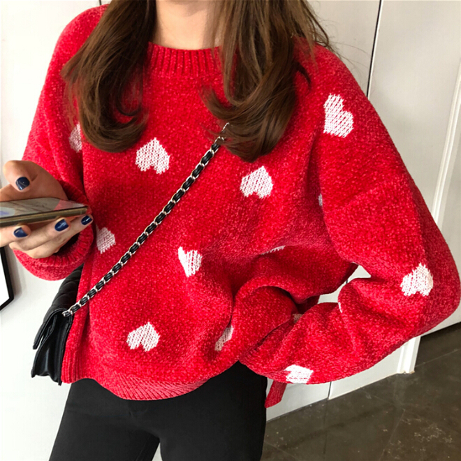 b8c179d54e35 Sweet Heart Pullover Sweater on Storenvy