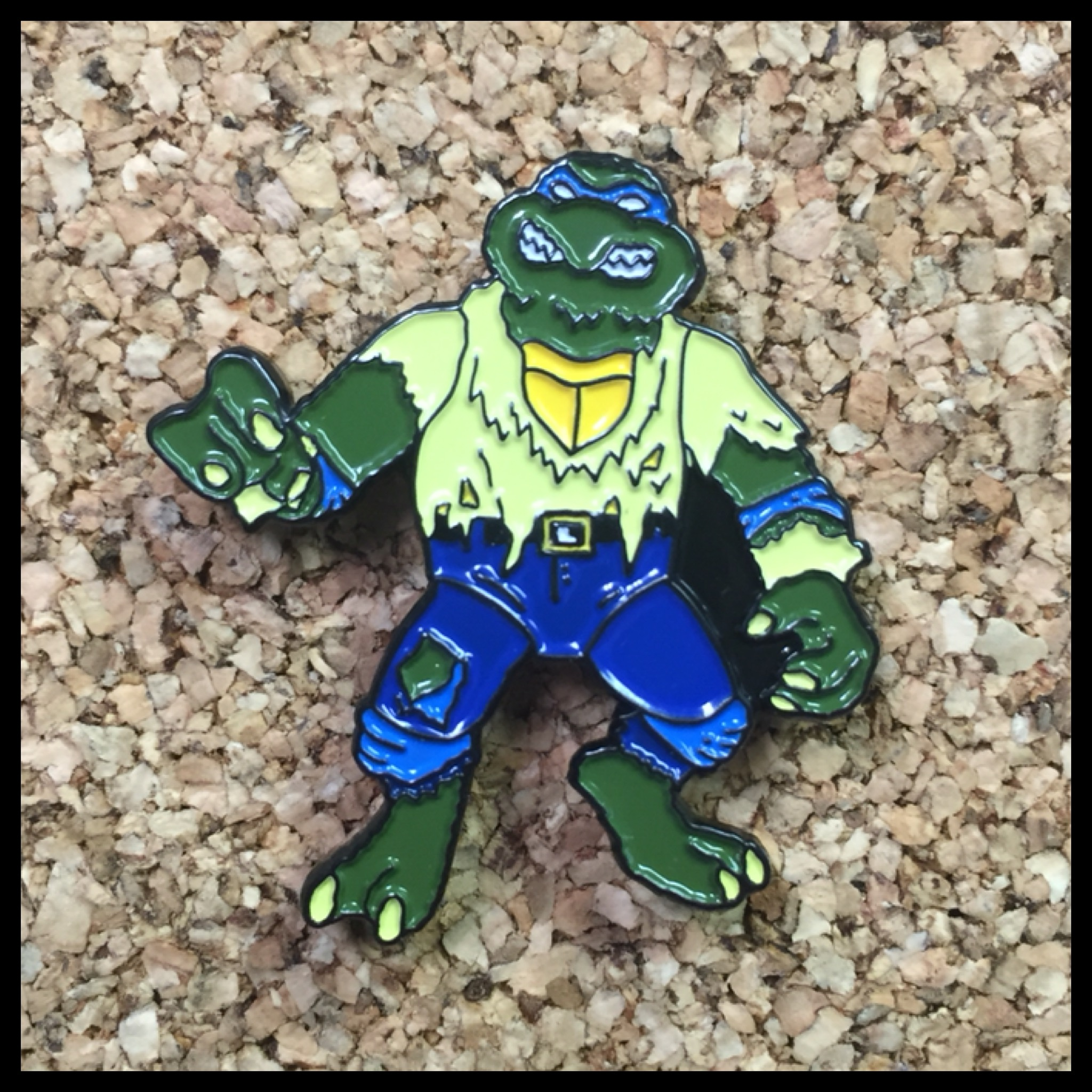 dbe67bb9c23 WOLFMAN TURTLE enamel pin · tittybats · Online Store Powered by Storenvy