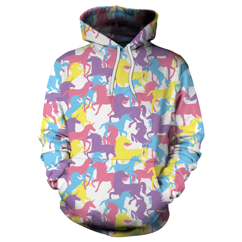 7d8446d8d39e Unicorn Camo Pink Hoodie 3D Graphics Printed Pullover · SportsMegas ...