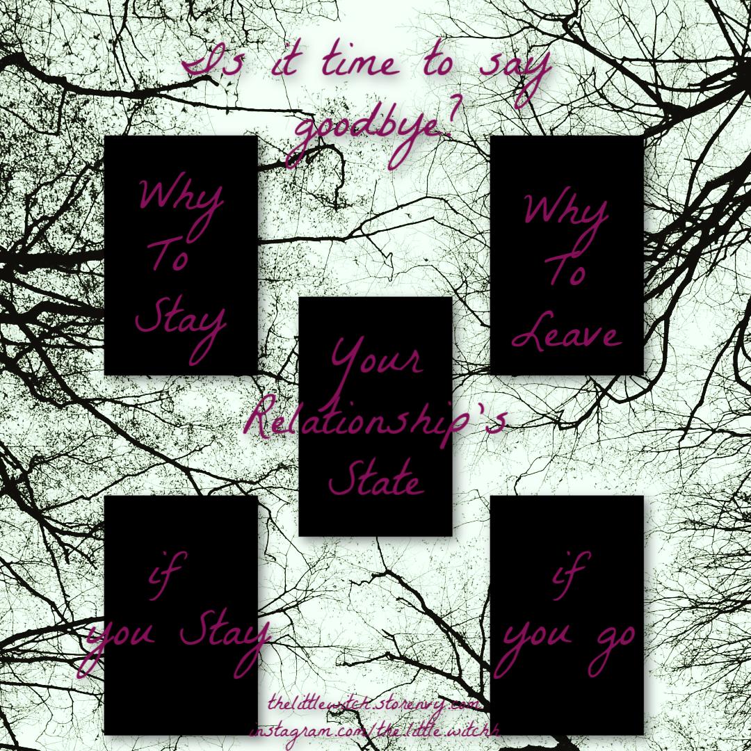 Relationship Advice Tarot Spread Love Reading Should I Stay or Go Same Day  Tarot Reading