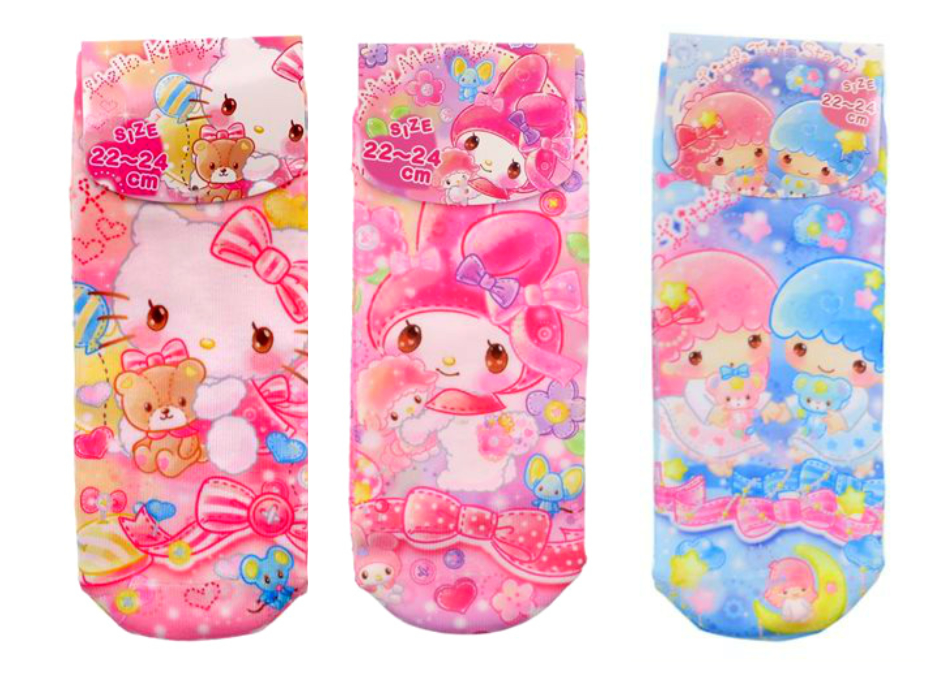 fabe1129d Sanrio Character Socks Pink Elegant Womens (Hello Kitty, My Melody, Little  Twin Stars)- Clothing and Accessories on Storenvy
