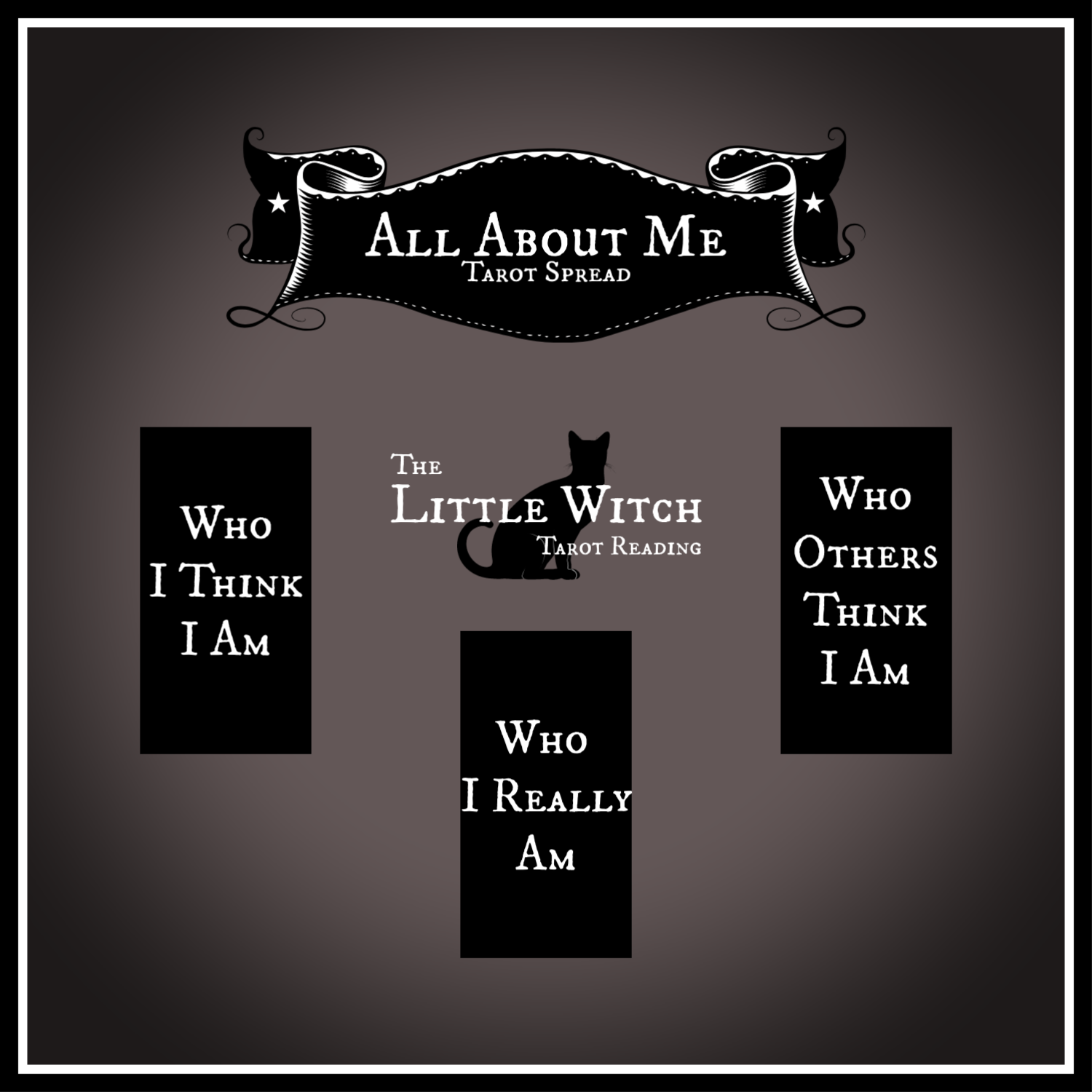 All About Yourself Tarot Reading Who Am I Really Tarot Spread Same Day  Tarot reading from The Little Witch Tarot Reading