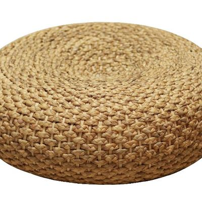 naturallifestyle Handmade Rustic Straw Ball Cushion Pouf Ottoman Floor Seating Footstool Home Decor Furniture