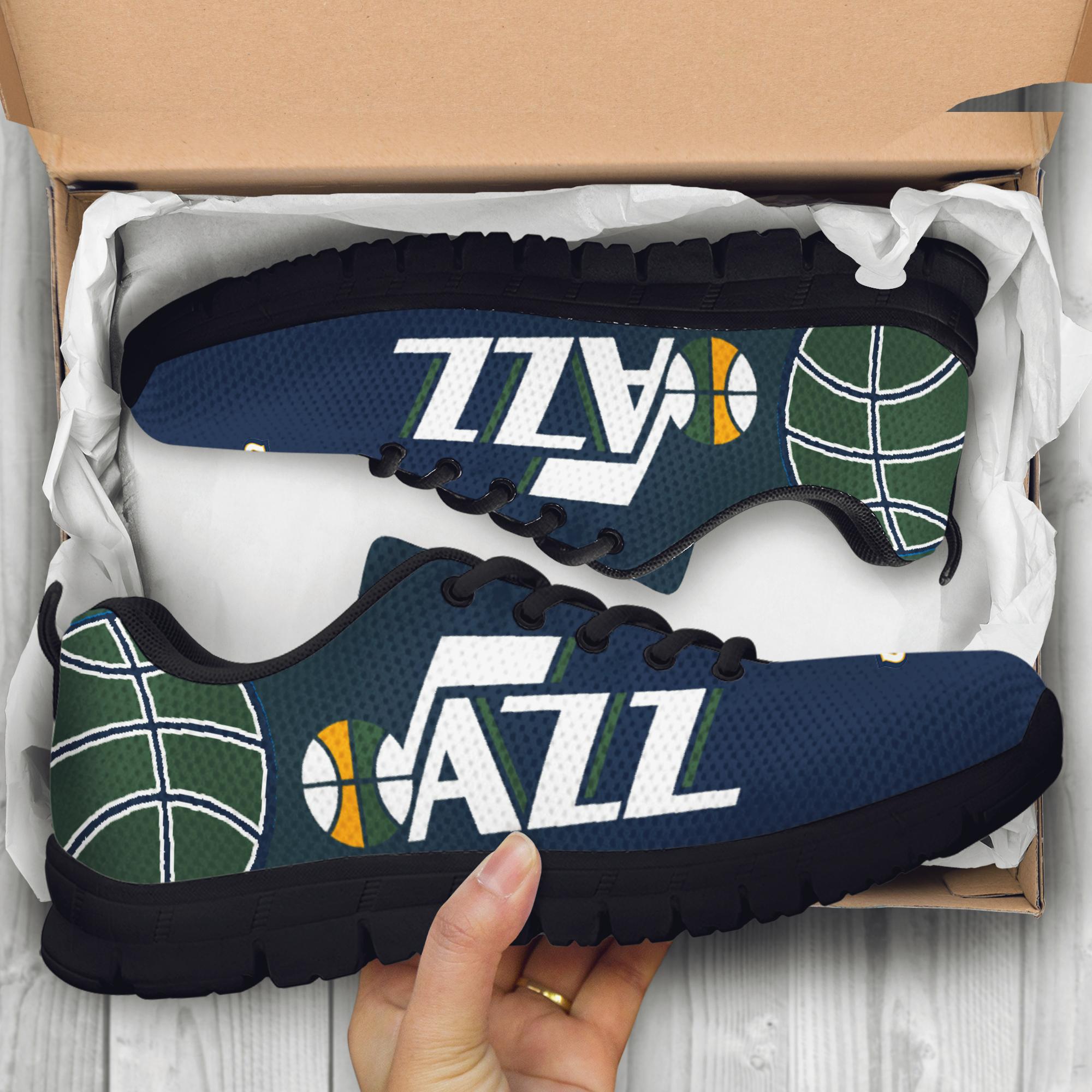 Utah Jazz fan custom unofficial running shoes sneakers trainers ... 97486e9f5