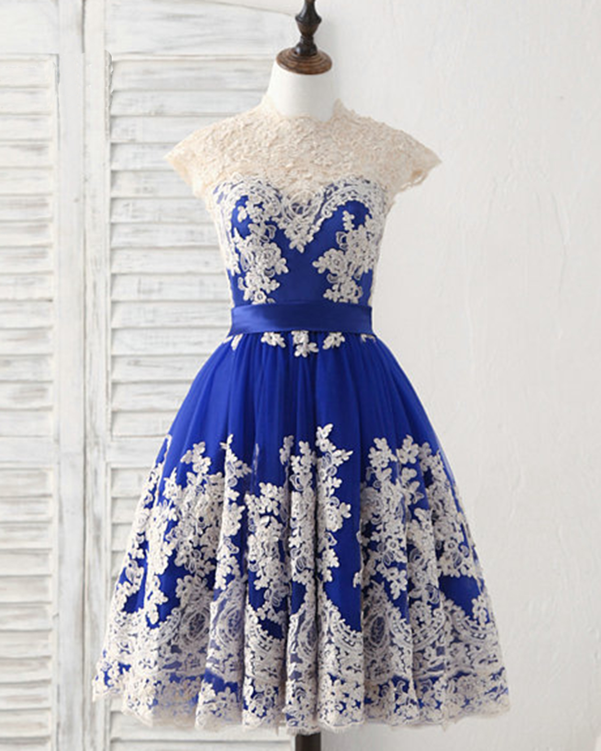 46490e4c88 Cheap Prom Dresses by SweetheartDress · Royal Blue Tulle Knee Length ...