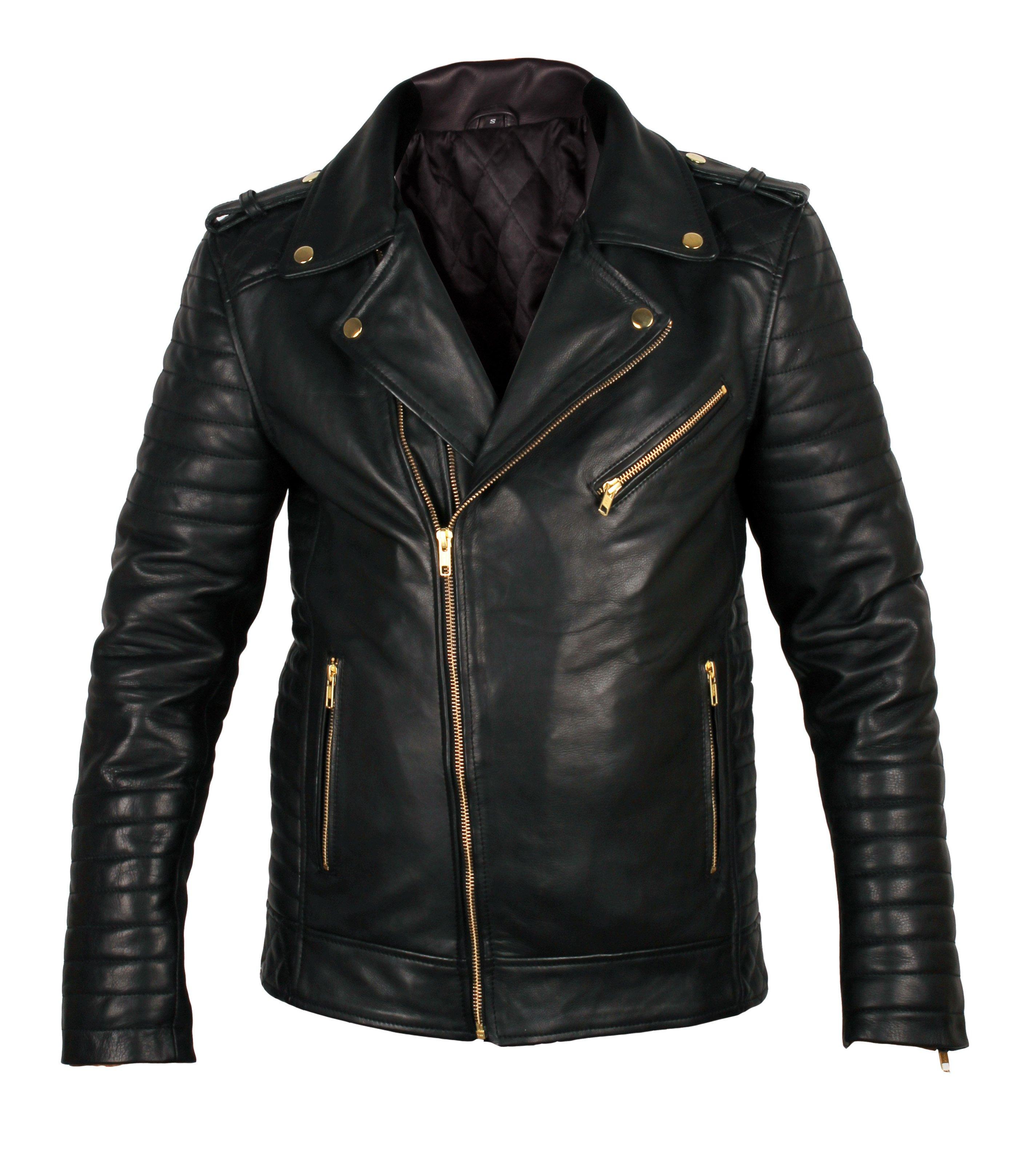 35f045818 Black Biker leather jacket for mens, Mens fashion leather jacket