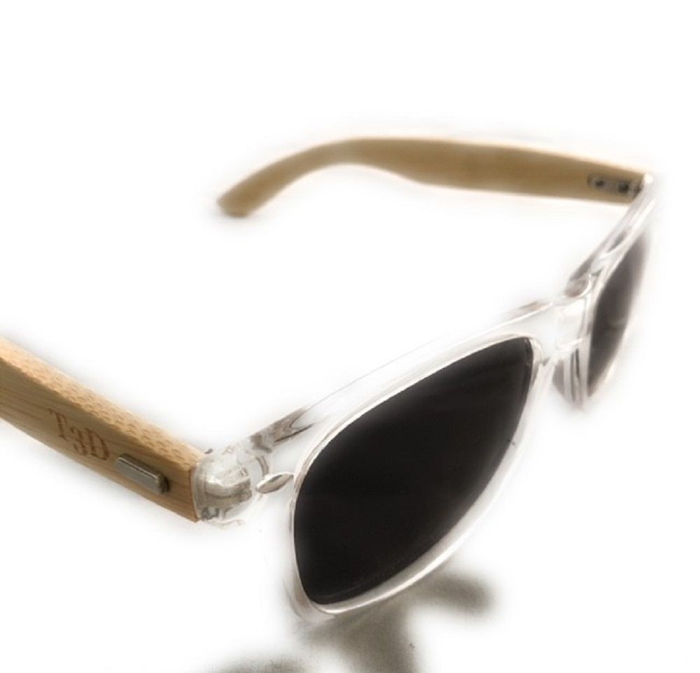 98b38db5821c4 Wooden Sunglasses by T3D Design (Surf Collection) - Bamboo w Clear frame -  Wayfarer on Storenvy