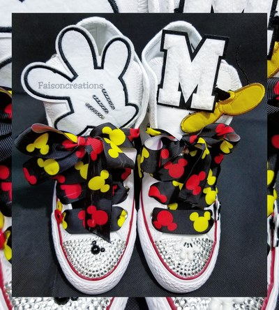 Adult Custom Mickey Mouse Converse