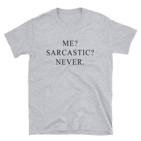 921d3695b Me sarcastic never Funny T-Shirt with sayings Tumblr T Shirt for Teens  Teenage Girl