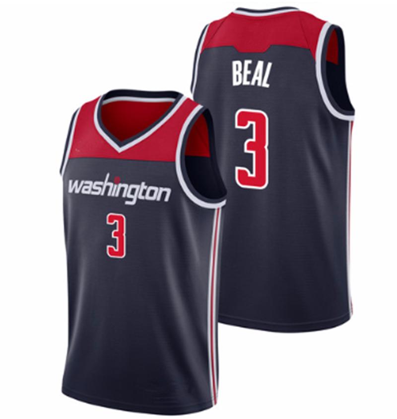 a25e7e2ed6e Men's Washington Wizards 3 Bradley Beal Navy 2018/19 Basketball Jersey