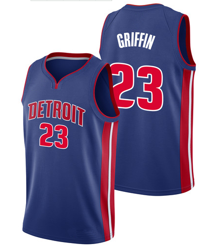 cd665a39e Men's Detroit Pistons 23 Blake Griffin Blue Basketball Jersey ...