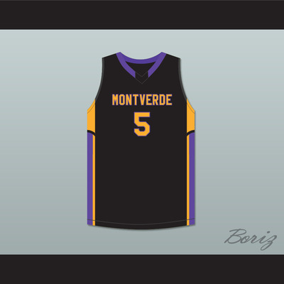 7660669bd R.j. barrett 5 montverde academy eagles black basketball jersey