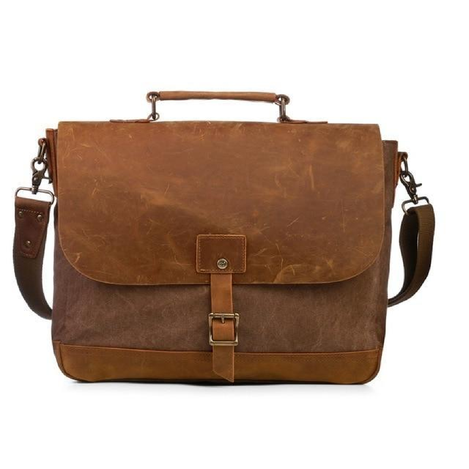 437e9ddc80 Men Canvas Leather Crossbody Bag Men Vintage Messenger Bags Large Shoulder  Bag - Thumbnail 1 ...