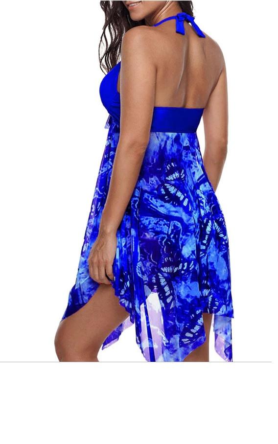 610af5455bd Plus Size Tankini Women Swimwear Two Piece Halter Swimsuit Dress Bathing  Suit on Storenvy