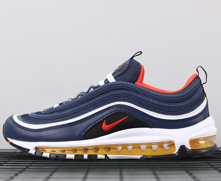 """uk availability 07792 4fa03 Nike Air Max 97 """"Midnight Navy Habanero Red"""" For Sale Running Trainers  Sneakers Shoes Authentic sold by shoesashoesb"""