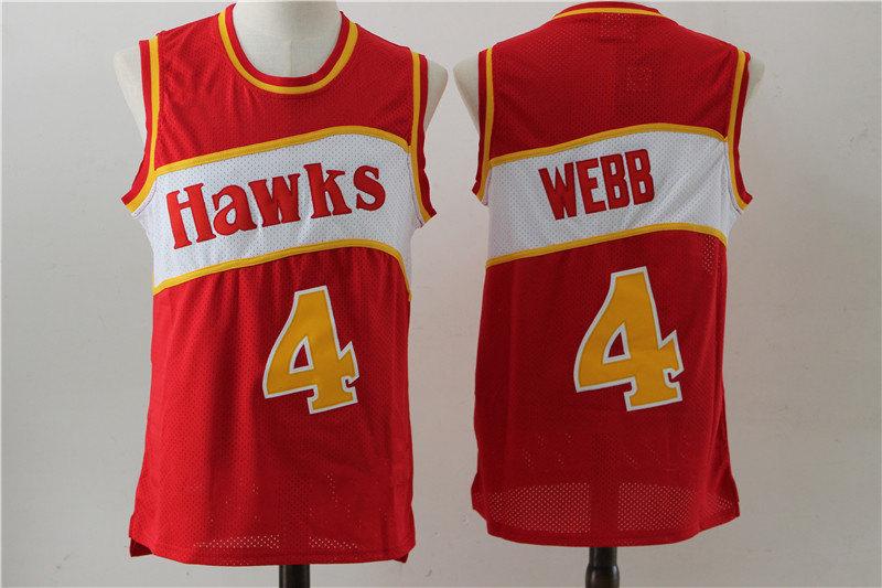 Men s Atlanta Hawks Spud Webb Red 1986-87 Hardwood Classics Swingman Jersey b98c8c40d