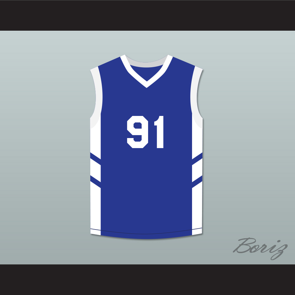 check out f736f a50ed Dennis Rodman 91 Blue Basketball Jersey Dennis Rodman's Big Bang in  PyongYang from acbestseller