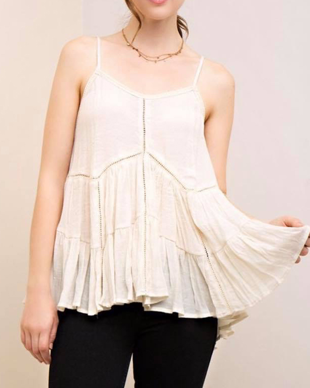584dde88e948fd Ivory Ruffle Top · six75 boutique + designs · Online Store Powered ...