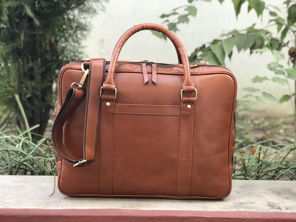 ce04f77cc2b4 Zakara 15 inch Leather Laptop Bag, Leather briefcase satchel, leather  briefcase men, Handmade Leather Bag,Leather laptop bag women, Father's Day  Gift