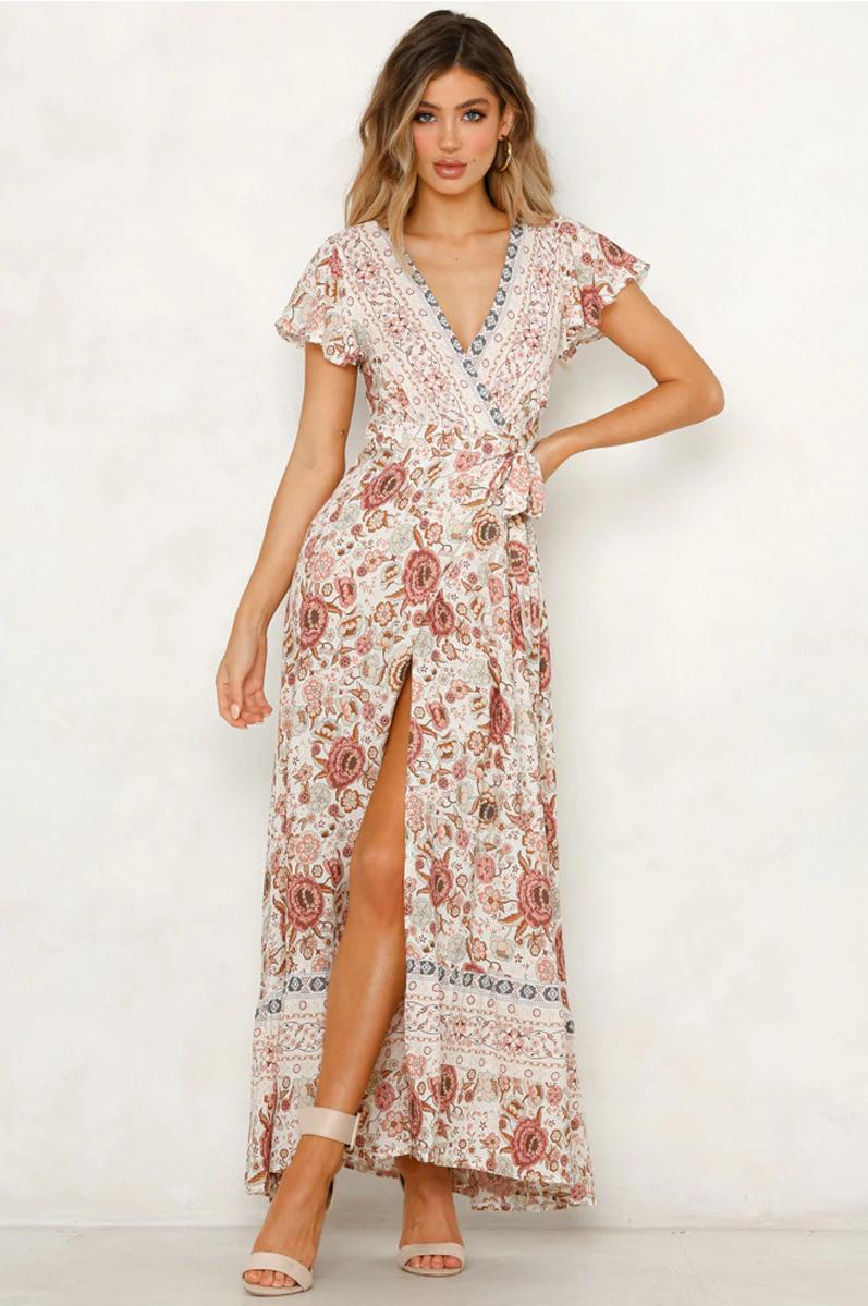 c2b7b49975 ☆ Floral Print Boho Dress / Casual Summer Dress ☆ on Storenvy