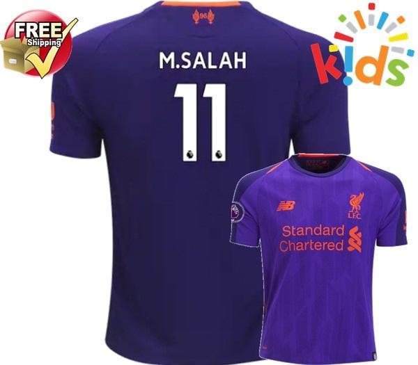 d4f70767b Liverpool Mohamed Salah  11 Kids Youth Away 18 19 Soccer Jersey Shorts Socks  Purple on Storenvy