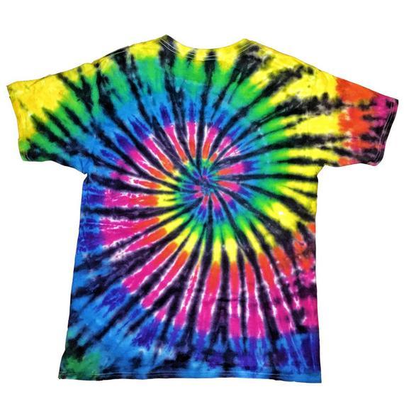 Dead End Kids 60s Aliens Hippie Trippy Tie Dyed Tee Plasticandy