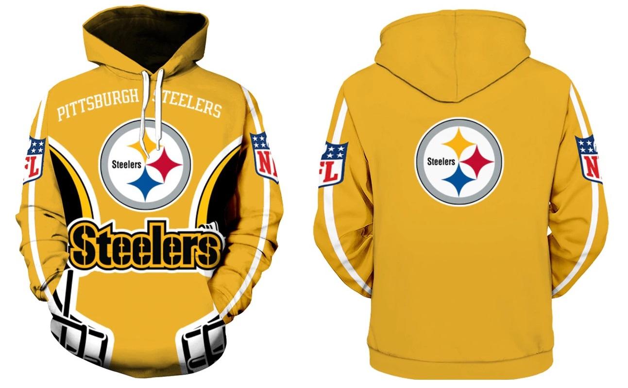 220ff5b0c21 Pittsburgh Steelers NFL Football Hoodie Team Sweatshirts Fan on Storenvy