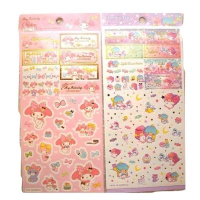 47b97ba2cbf4 My melody little twin stars sticker sheet- sanrio stickers and stationery  gudetama hello kitty