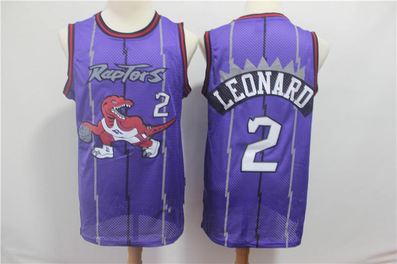 cd0f2df7c Men s Toronto Raptors Kawhi Leonard Mitchell   Ness Purple 1998-99 Hardwood  Classics Swingman Jersey