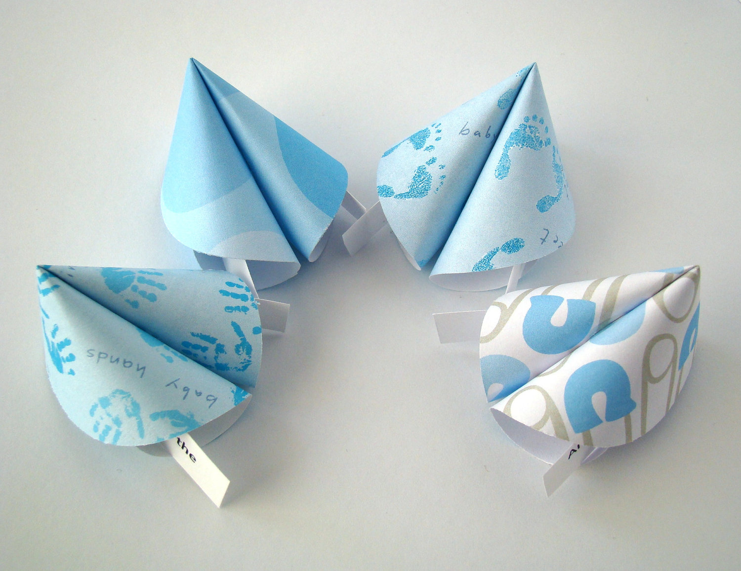 Boy Baby Shower Origami Fortune Cookies - Set of 25 ... - photo#20