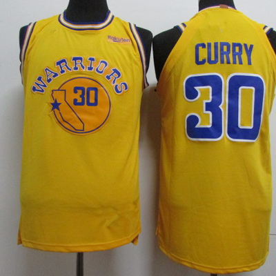 07aaf781af1d Men s golden state warriors 30 stephen curry yellow 201819 player  basketball jersey - icon city edition