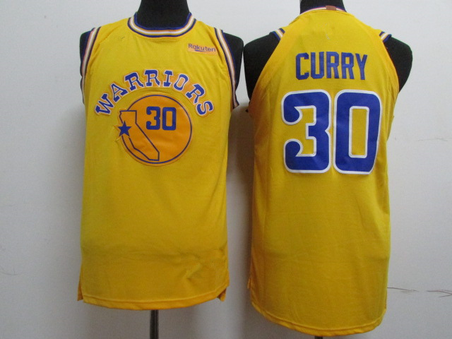 9574824f6 Men s Golden State Warriors 30 Stephen Curry Yellow 201819 Player  Basketball Jersey - Icon City Edition