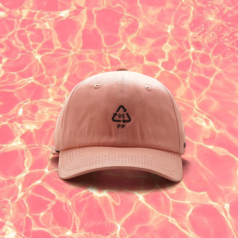 WASHING CARE INSTRUCTIONS SYMBOLS BASEBALL CAP PINK from soldrelax