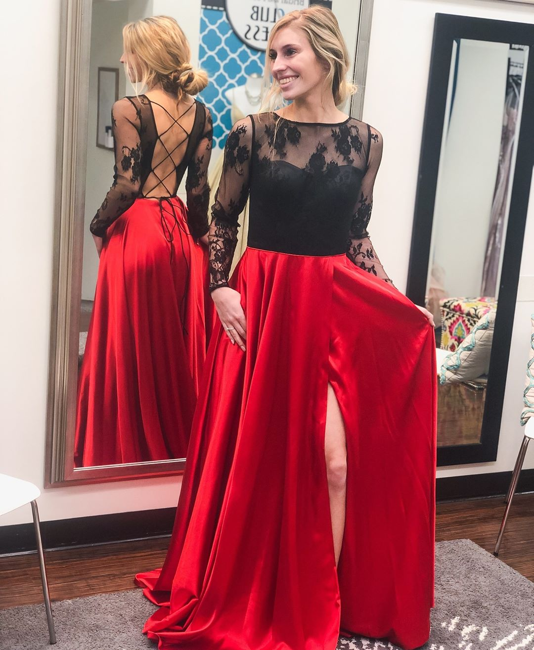Long Prom Dress with Long Sleeves