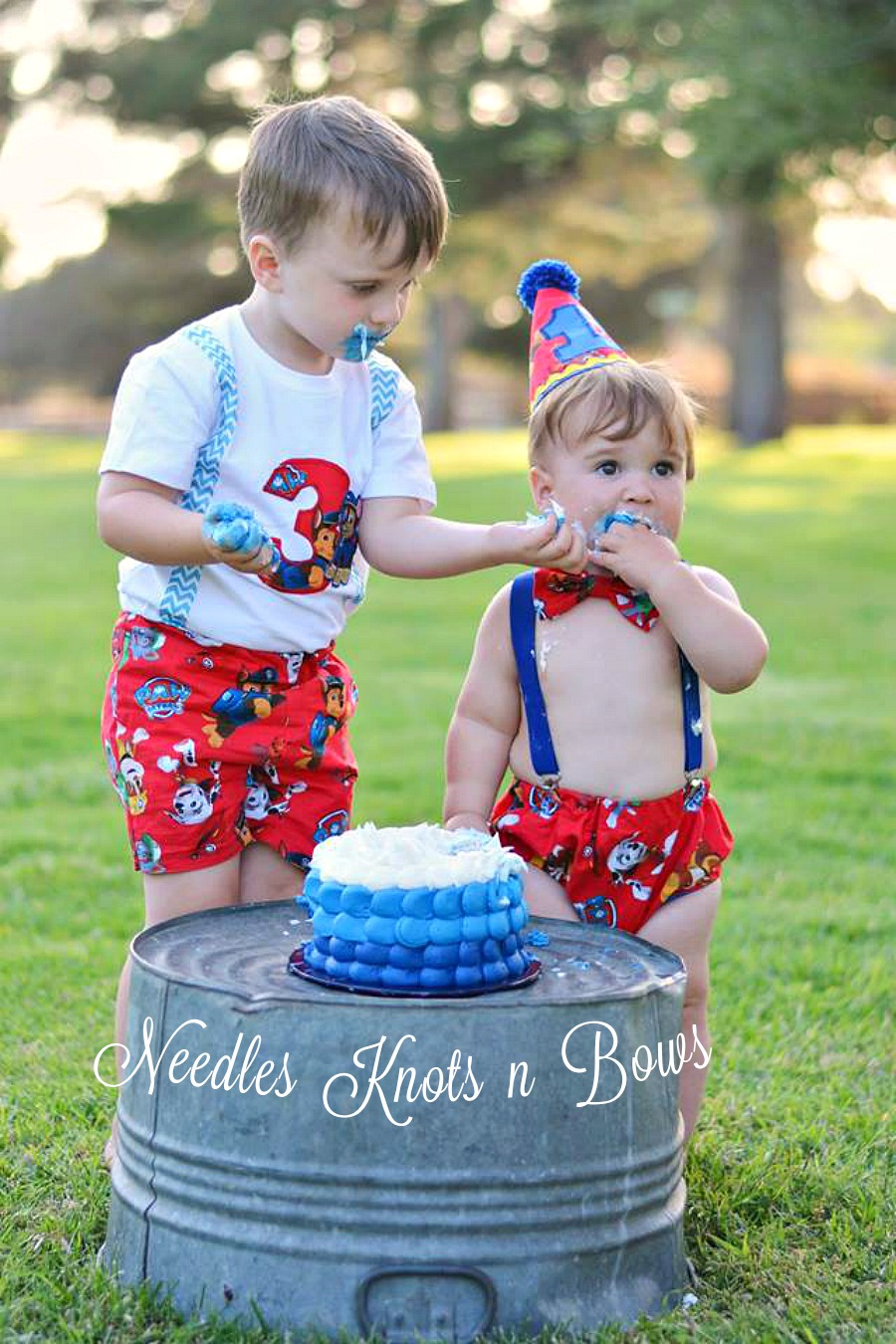 Boys Paw Patrol Cake Smash Set 1st Birthday Outfit