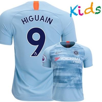 8b1a29536e9 Gonzalo higuain  9 fc chelsea 18 19 third kids young jersey shirt and shorts