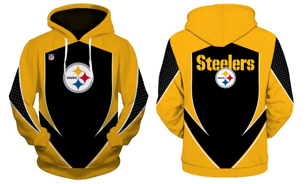 best sneakers f0a07 455e3 NFL Pittsburgh Steelers Football Hoodie Team Fashion Sweatshirts 2019 from  SportsMegas