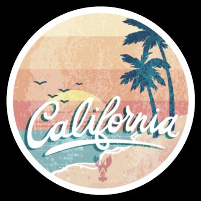 Vintage California Vinyl Sticker from ˗ˏˋlobbopaloozaˎˊ˗