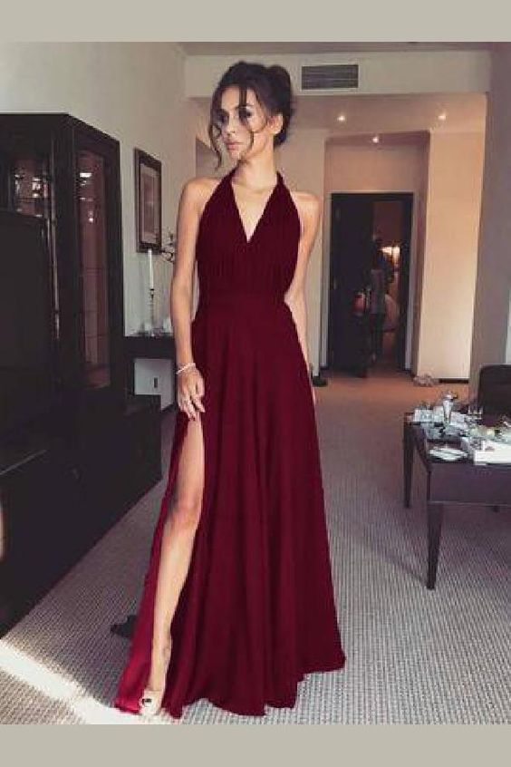 59d3f7a21386 Outstanding Prom Dress For Cheap, V-Neck Prom Dress, Burgundy Prom Dress,2093  on Storenvy