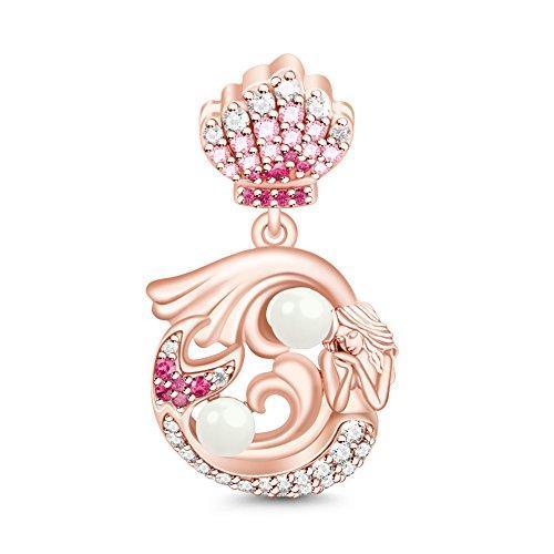 0911a36407d Little Mermaid Pendant 925 Sterling Silver Charm Bead Dangle for European  Bracelets Gift for her ...