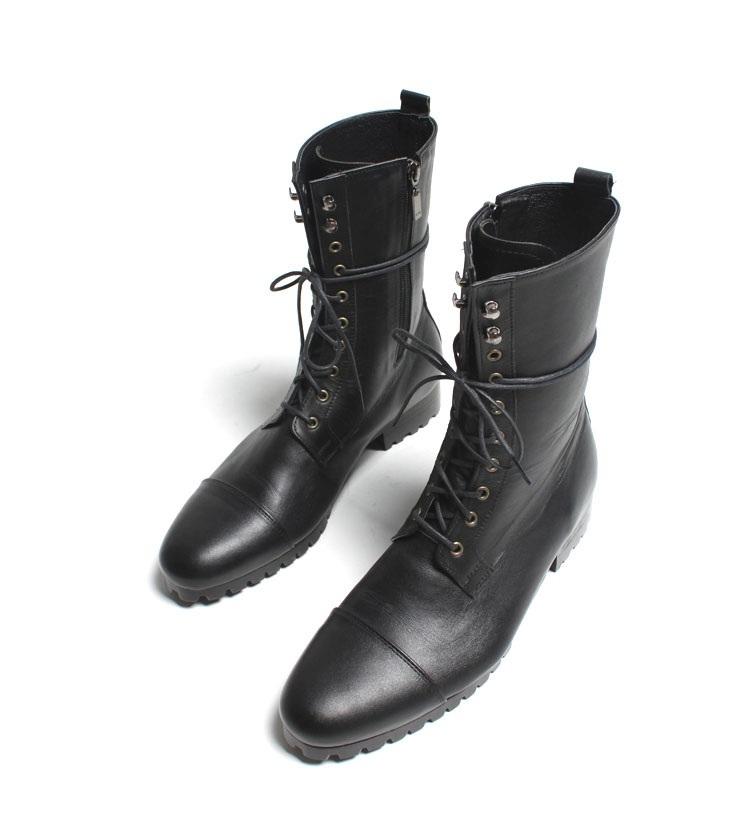 ef375612b17 Handmade Men Black Knee High Military Boots, Men black Combat boots, Men  boots from Rangoli Collection