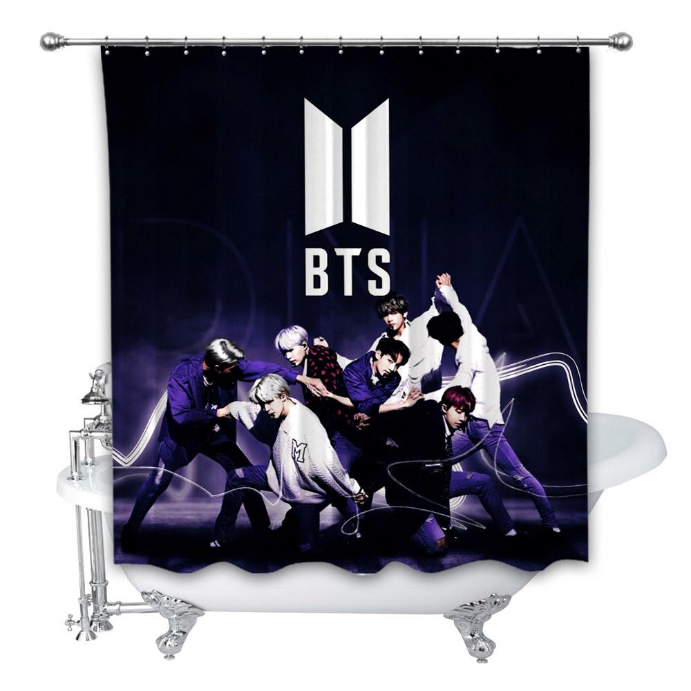 BTS Army Popular Design Shower Curtain 48x72 60x72 66x72