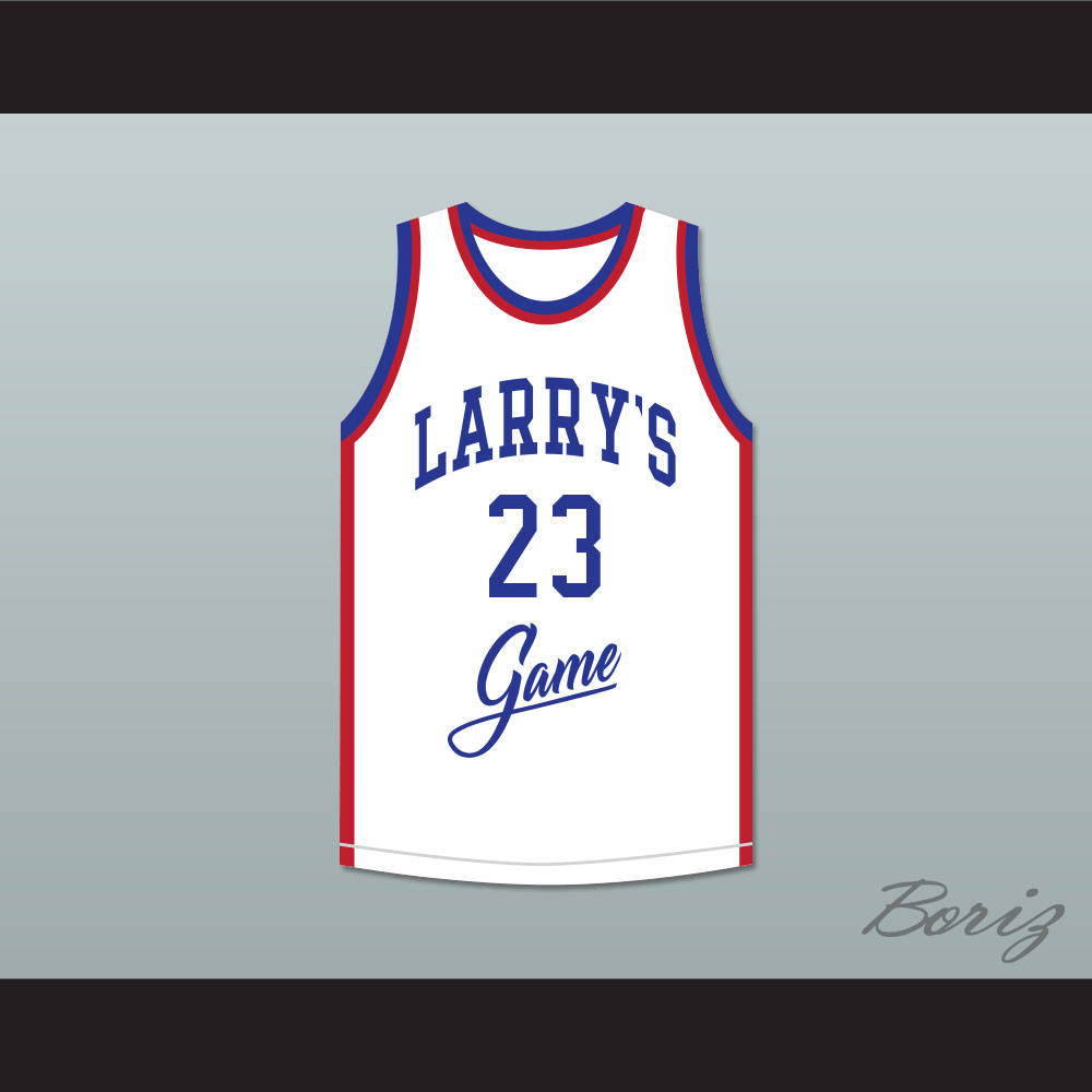 e2293a80d4b Michael Jordan 23 Larry's Game White Basketball Jersey 1988 Charity Event
